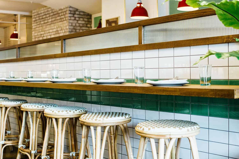 Culpepper restaurant in Auckland bar seating design including stools