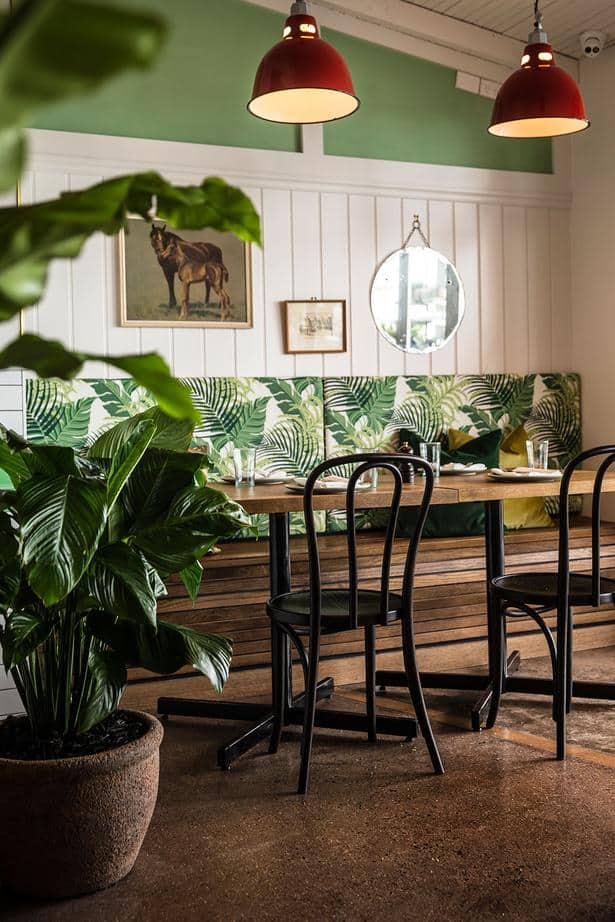 Culpepper restaurant in Auckland table and chair design featuring plants