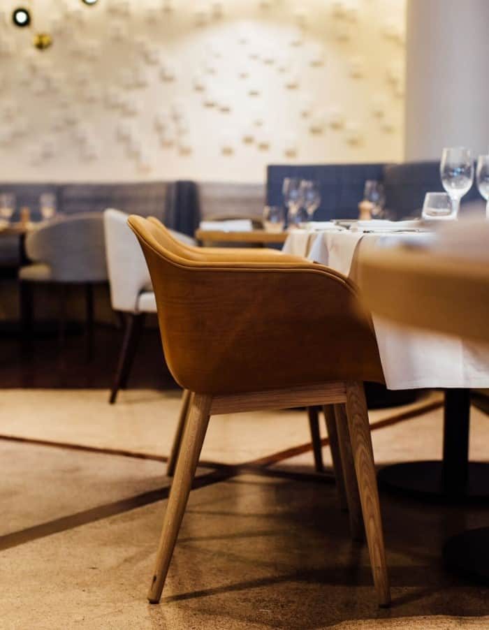 Euro restaurant in Auckland dining room design with focus on a chair