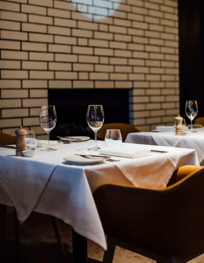 Euro restaurant in Auckland dining table closeup design