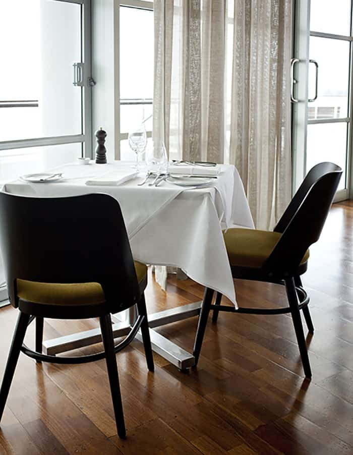 Fish restaurant in Auckland dining tables and chairs