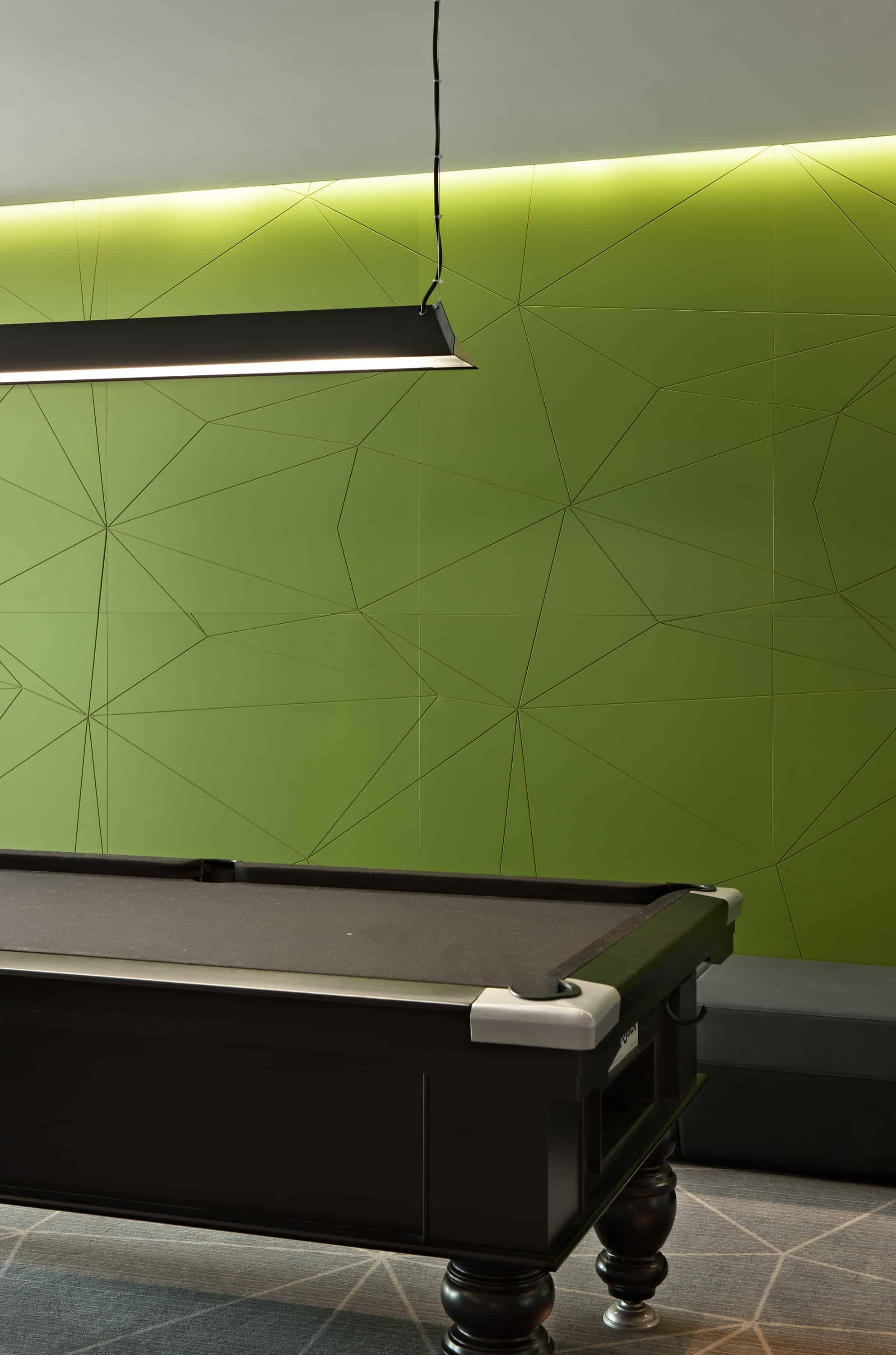 Citrix office in Auckland workplace lunchroom breakout design with closeup of pool table