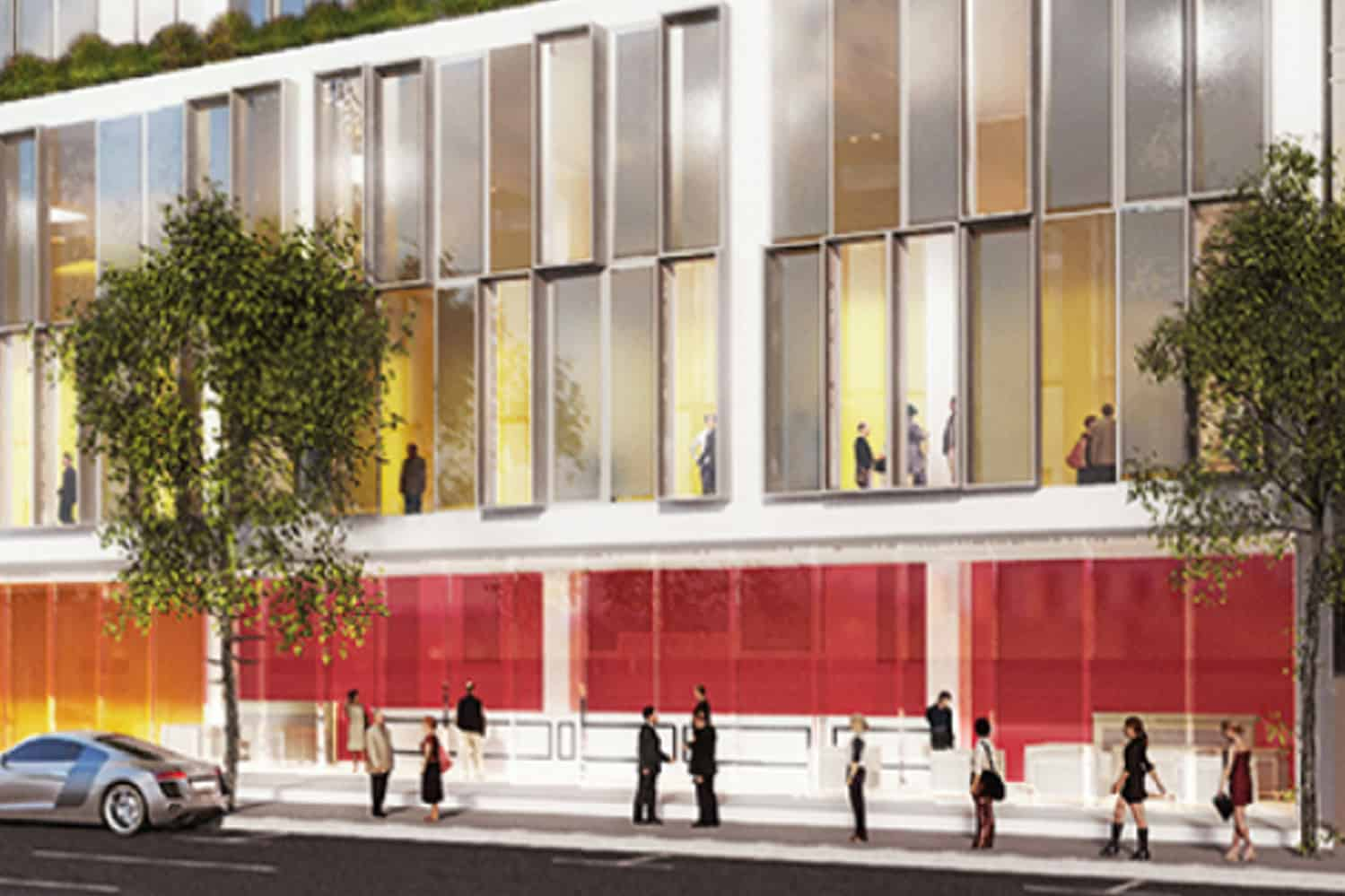 Convention Centre and Hotel in Wellington drawing of exterior building design entrance