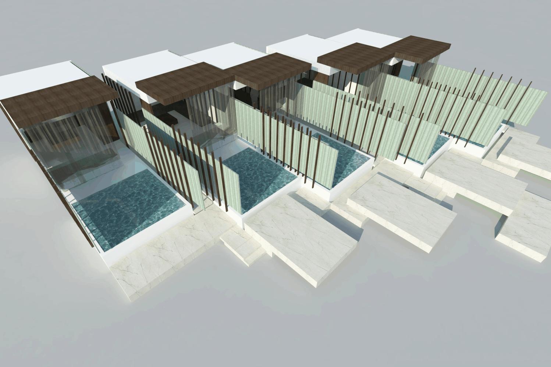 Jupiters Hotel in Brisbane cabana design rendering