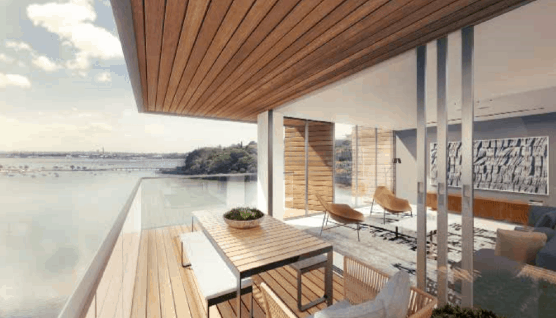 Orakei residential Apartments in Auckland drawing for the design of the deck