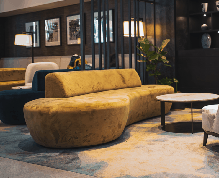 Sheraton Four Points hotel in Auckland foyer couch design