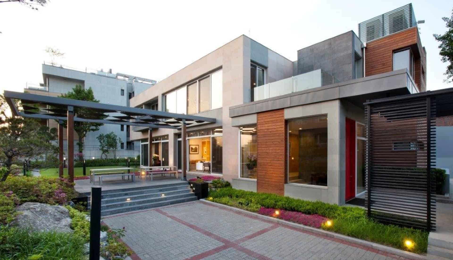 Government residences public sector in Seoul exterior building design