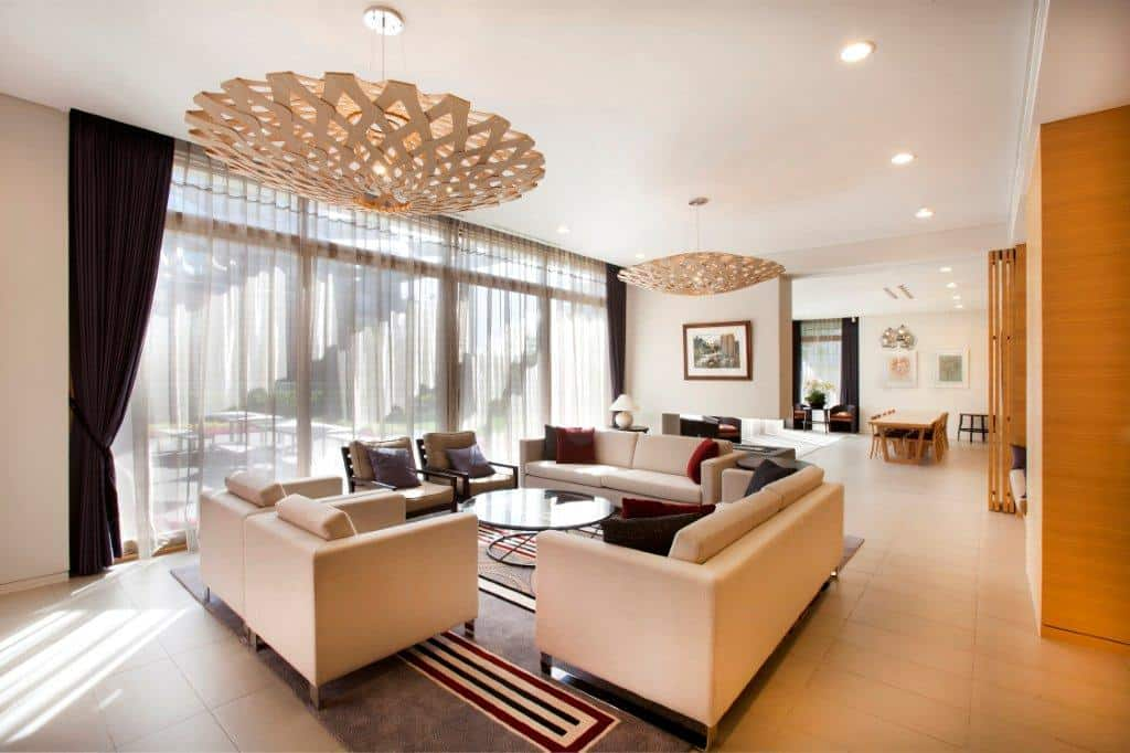 Government residences public sector in Seoul interior design including living room and dining space