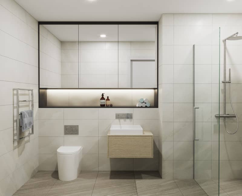 Longview Apartments retirement village aged care facility in Wellington apartment bathroom design